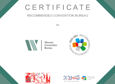 Warsaw CvB recommended by the Polish Tourism Organisation